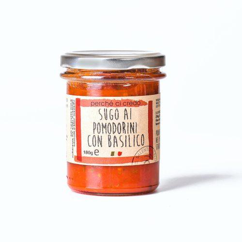 Sugo ai pomodorini ciliegini con basilico Perchecicredo