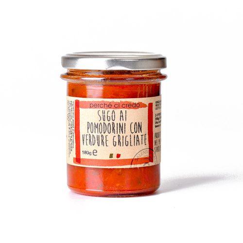 Sugo ai pomodorini ciliegini con verdure grigliate Perchecicredo