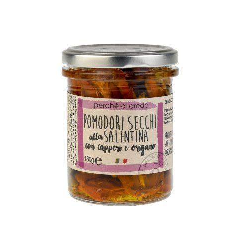 Ortaggi sottolio pomodori secchi alla salentina con capperi e origano Perchecicredo